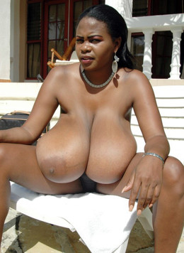Ebony babe Miosotis with big natural..
