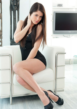 Little Caprice Poses without panties,..