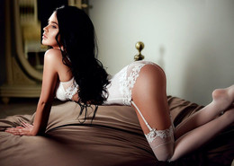 Long legged babes in sexual lingerie.