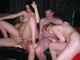 Homemade swinger porn, swapped wives..
