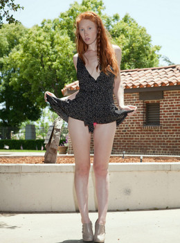 Beautiful, slender legs. Young model..
