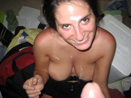 Cum loving cutie with big honkers..