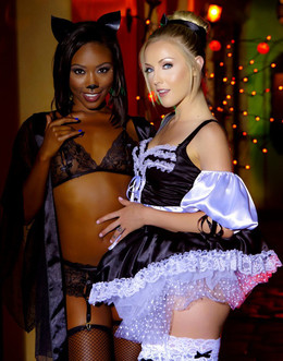 Interracial babe Chanell Heart and..