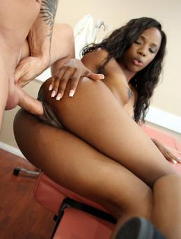 Dirty black nurse Sarah Banks anal..