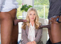 Karla Kush in interracial threesome