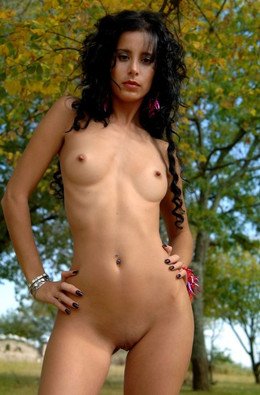 Nude shots in the forest,..