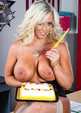 Alura Jenson happy Birthday. Busty..