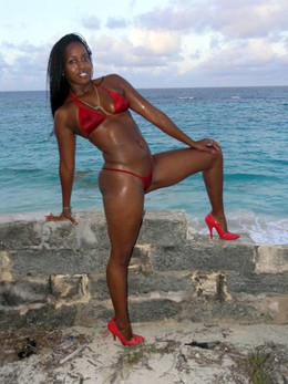 Stunning black babes in swimsuits by..