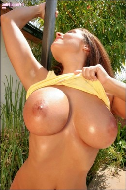 Charming babes with big round boobs..