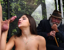 Curvy Abella Danger fucks at the bus..